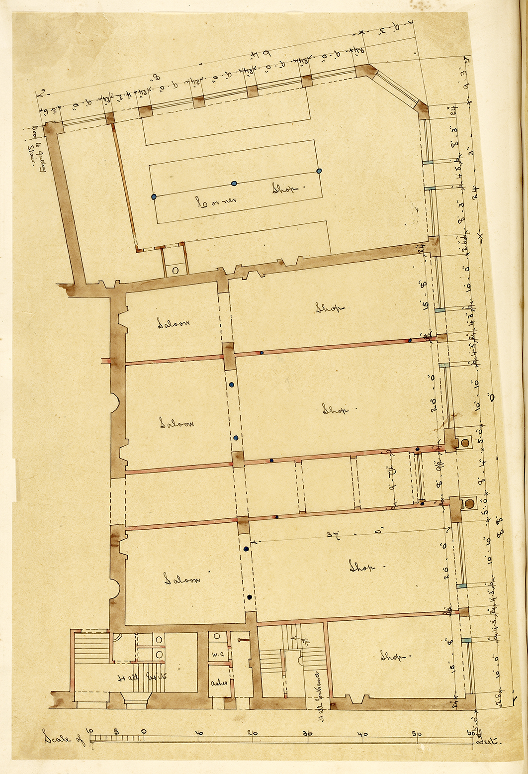 George Bell, Architectural Plan, 1867