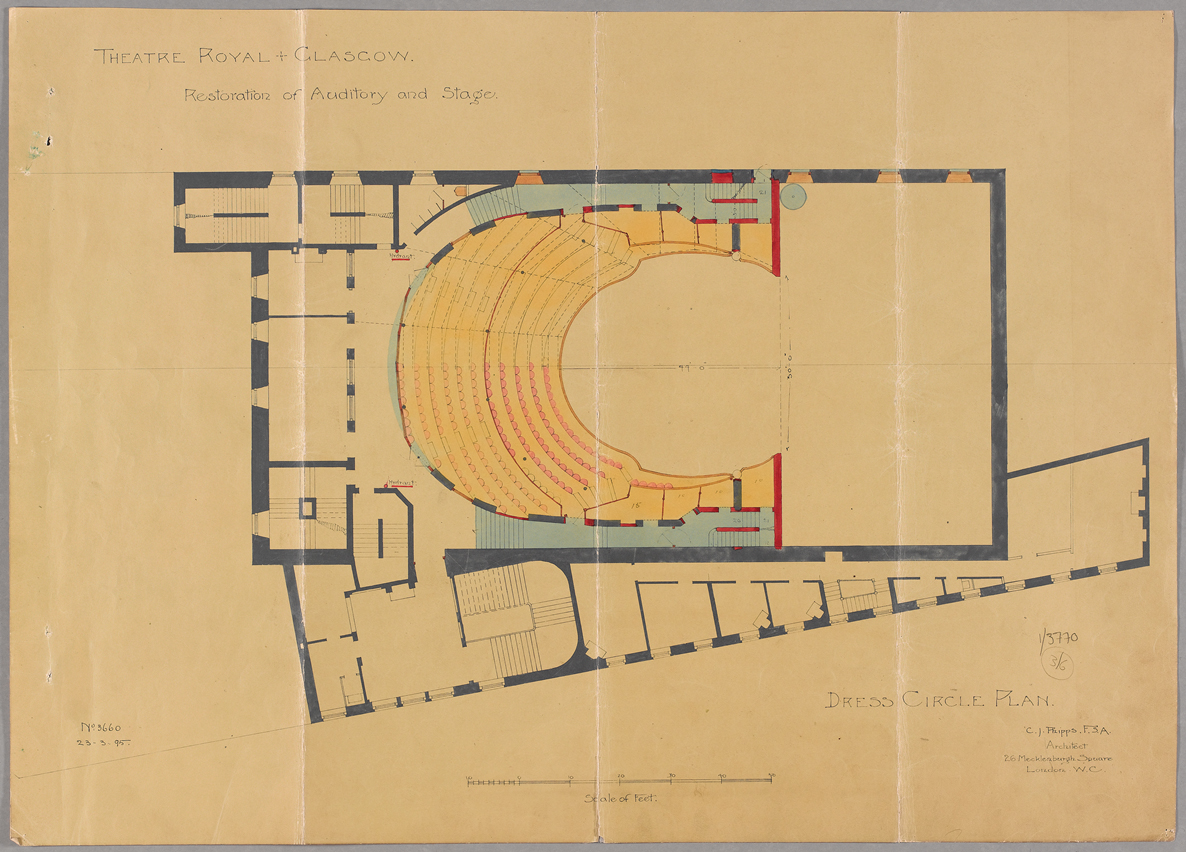 Charles Phipps, Dress Circle Plan, 1895