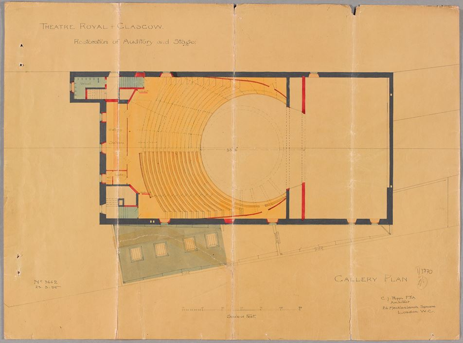 Charles Phipps, Gallery Plan, 1895