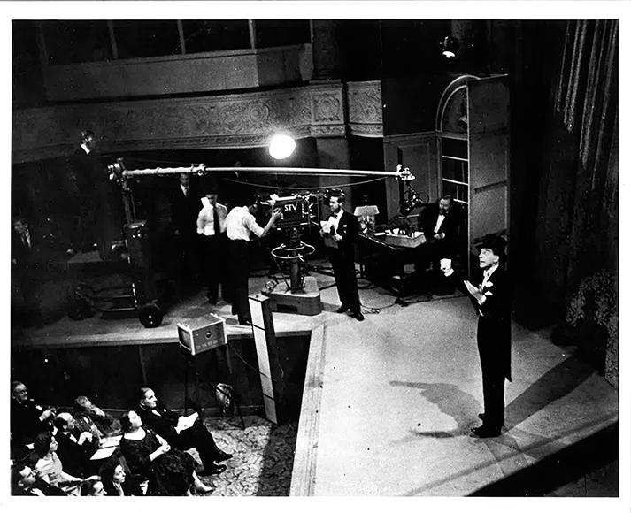 Jack Buchanan opens the new STV studios at the Theatre Royal