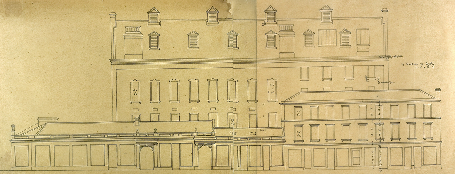 George Bell, Side Elevation Facing West, 1867