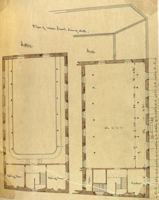George Bell, Plan of Upper Floors, 1867