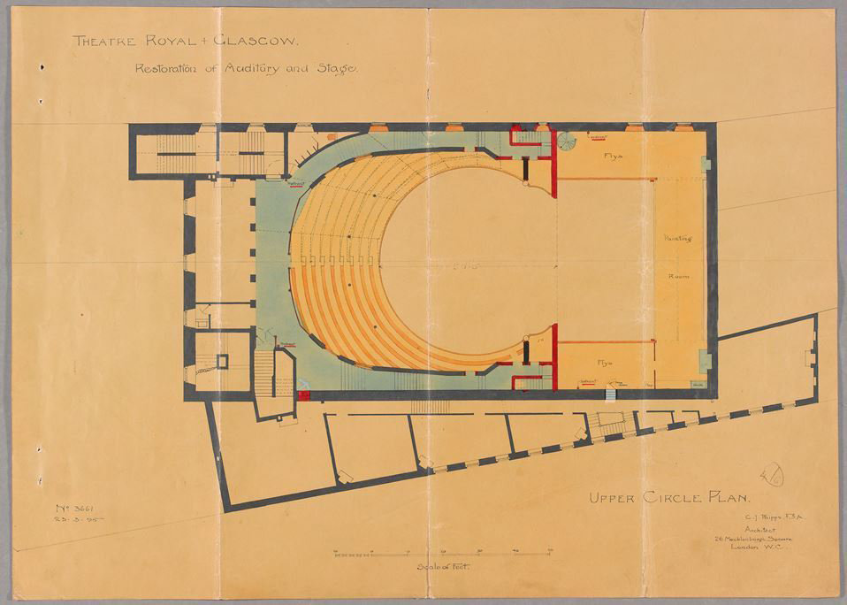 Charles Phipps, Upper Circle Plan, 1895