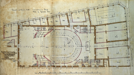 George Bell Plan of Ground Floor, 1867