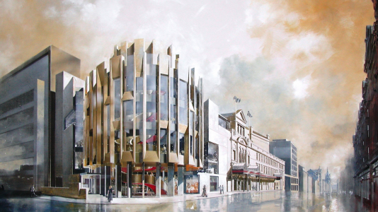 Artist's representation, Theatre Royal Glasgow.