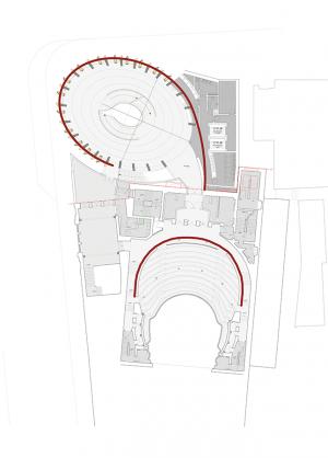 Architect's plan of Theatre Royal Glasgow.