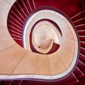 View down through staircase, Theatre Royal Glasgow.