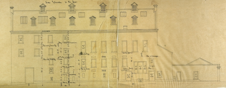 George Bell, Side Elevation facing East, 1867