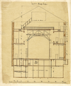 George Bell, Section through Stage, 1867